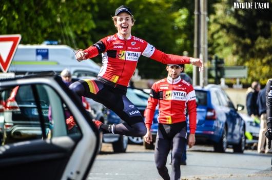 Justin Mottier, heureux de prendre le départ des courses